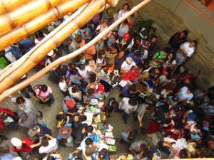 La Minga, jornada de trueque. Foto tomada de check-in-registro.blogspot.com